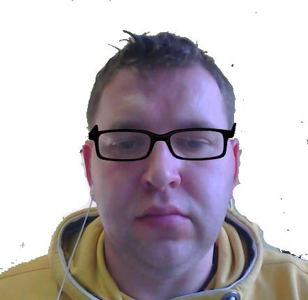 Printscreen vom Brillen Anprobieren.
